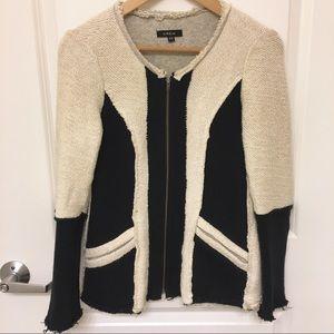 DREW Cream & Navy Knit Jacket